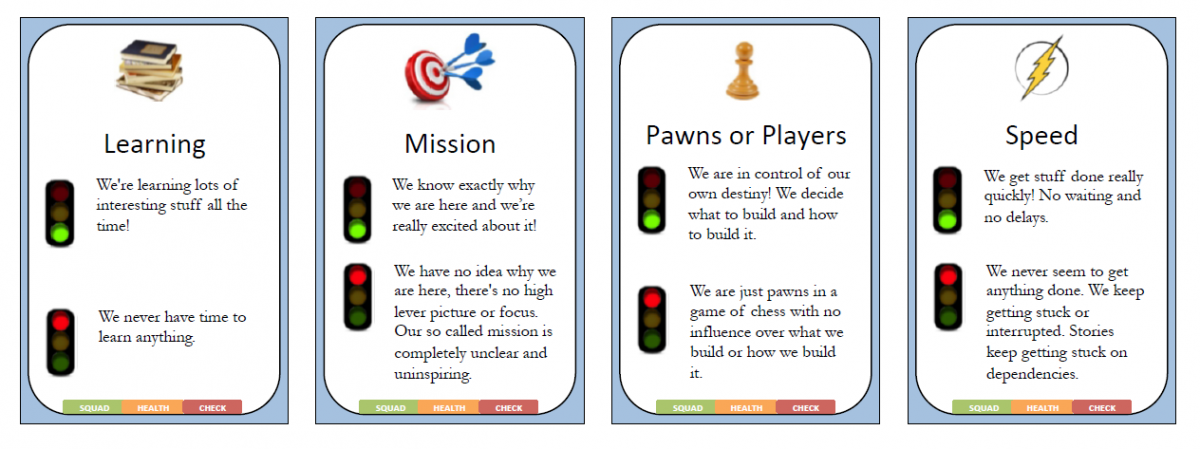 Health check learning mission pawns-players speed