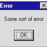 error message some-sort-of-error